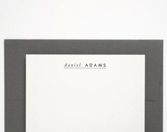 SOLEN Custom Letterpress Stationery - Personalized Note Card Set - Modern Design - Premiere