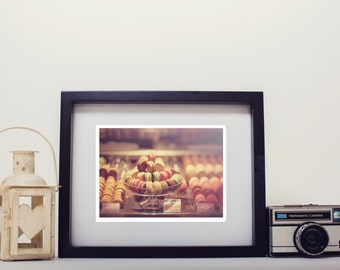 paris photography, photo print, stilllife photo - whimsical fine art photography, macarons, bokeh, vintage, wall art, home decor