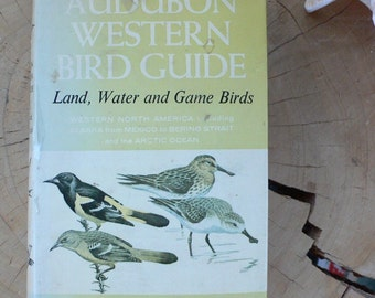 vintage book, Audubon Western Bird Guide, hardcover, dust jacket, full color illustrations, 1957, from Diz Has Neat Stuff