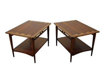 Pair of Mid-Century Danish Modern Andre Bus Lane Acclaim End Tables 900-05