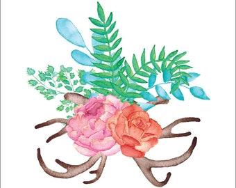 Antlers + Florals #3