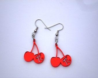 Cherry Pi Acrylic Earrings