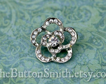 Rhinestone Buttons -Anika- (21mm) RS-051 - 5 piece set