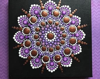 Original Hand Painted Mandala Acrylic Canvas