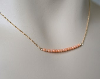 Tiny Coral Necklace