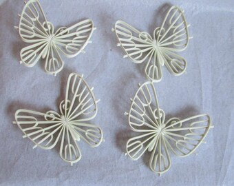 Vintage Wall Decor Butterfly Group Butterflies Set of 4