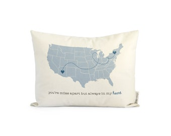 Us map pillow etsy gumiabroncs Choice Image