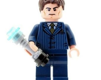 Doctor Who Minifigure with Screwdriver Custom NEW Made with LEGO Parts
