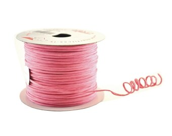 Paper Cord Wired Pink Flexible Tourbillon Craft Cord 10 yards