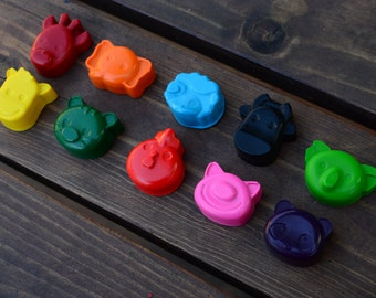 Animal Crayons set of 30 - Party Favors - Kids Crayons