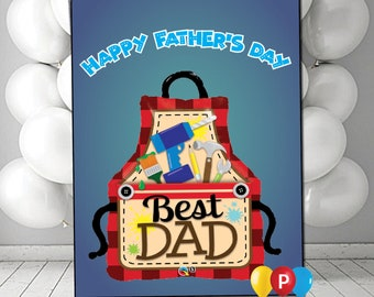 Personalised Tool Belt Fathers Day Daddy Dad Card