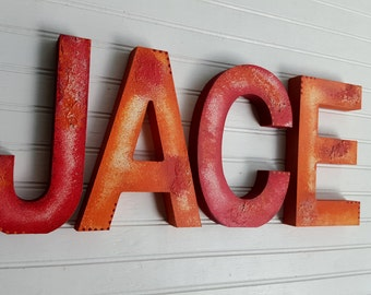 Boy Name Letters - Girl Name Letters - Rustic Block Font - Nursery Letters - Baby Name Letters - Baby Shower Gift