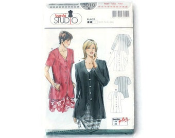 UNCUT sewing pattern blazer, sewing pattern jacket, Burda studio 3010