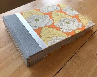Tangerine Lotus Flower Photo Album/ 5x7 Photo Album/ 4x6 Photo Album