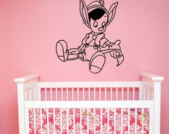 Pinocchio Wall Sticker Vinyl Decal Disney Art Decorations for Home Kids Boys Baby Room Bedroom Playroom Cartoon Decor pino3