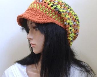 Reggae Summer - Soft Cotton Blend - Orange, Lime and Gray