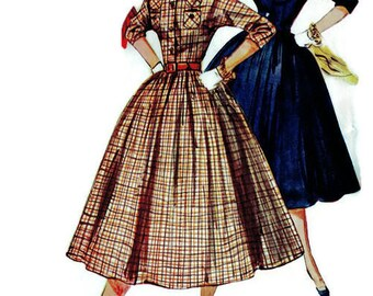 Sewing Pattern Simplicity 4828 Vintage Fashion Dressmaking Instructions Rockabilly Full Circle Skirt Dress Size 15