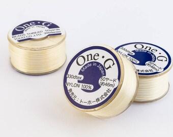 Cream Toho Nylon Size G Thread #CDG003