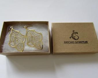 Tribal Floral Hanging Earrings Tribal Earrings Boho Gypsy Jewellery Belly Dance Jewellery Free UK Delivery Gift Boxed