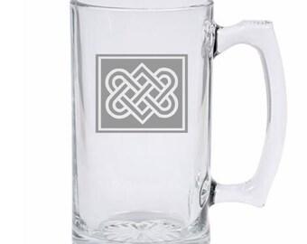 Celtic Knot Engraved Beer mug
