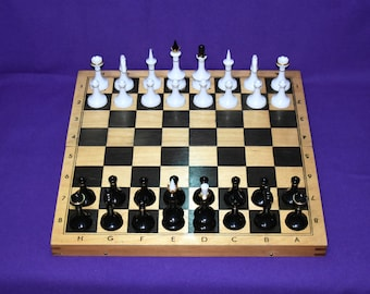Vintage wooden chessboard, Wood Chess Set Game, Vintage chess set, Wooden chess set, Vintage Chess set, Old Chess