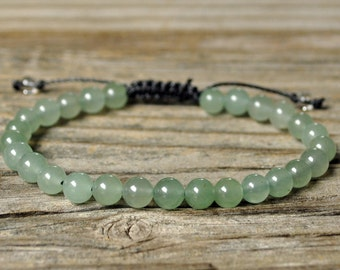 Heart Chakra Bracelet, Aventurine Bracelet, Yoga Bracelet, Meditation Bracelet, Chakra Healing, Crystal Healing, Beaded Bracelet, Prosperity