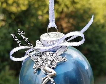 Hand Painted Fairy Yule/Christmas ornament Ooak