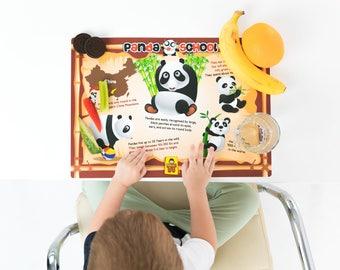 UncleWu Panda School Kids Placemats