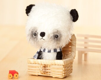 Panda bear softie toy / stuffed animal bear - made to order -