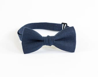 Groomsmen Bow Tie Ring Bearer Bow Tie Navy Bow Tie Adult Bow Tie And Pocket Square
