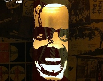 Jack Nicholson 'The Shining' Beer Can Lantern: Pop Art Portrait Candle Lamp - Unique Gift!