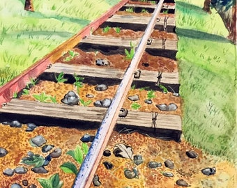 Watercolor - Railroad