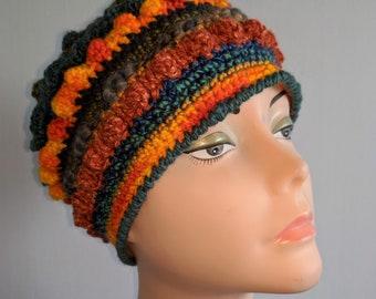 Freeform Freestyle Crochet Beanie Hat