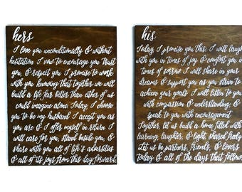 Custom Wedding Vow Signs