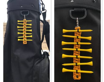 Paracord Golf Tee Holder Custom Made in USA with Matching Zipper Pull and FREE SHIPPING