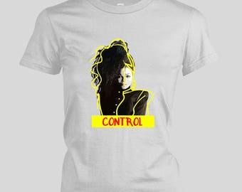 Janet Jackson Control Women's T-shirt - Rhythm Nation Tour shirt Diamonds world tour the jacksons If That's the way love goes michael ladies