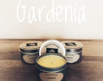 Gardenia Soy Wax 6 oz. Candle Tins
