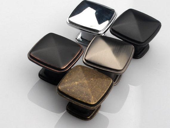 Dresser Knob Antique Bronze Black Silver Chrome Oil Bronze Brushed