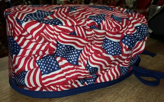 American Flag Surgical cap