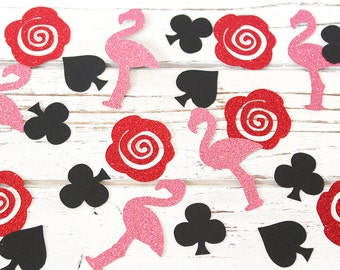 We're Painting the Roses Red Glitter Confetti - 50 pieces - Alice in Wonderland, Table confetti, Party Decorations