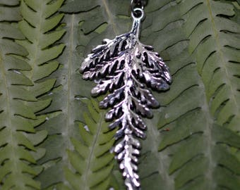 Fern frond pendant necklace