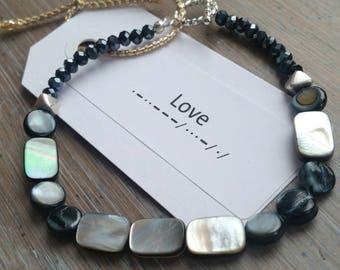 "OOAK Morse Code ""Love"" Bracelet"