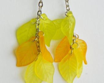 Fall Leaf Earrings Autumn Leaf earrings fall jewelry autumn jewelry leaf earrings fall earrings autumn earrings 2 inch earrings womens earri