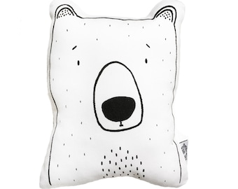 Bob the Grizzly Bear Soft Toy Pillow by The Wild - Stuffed Toy, Plushie, Stuffed Animal, Baby Toy, Bear Plush, Baby Stuffed Toy