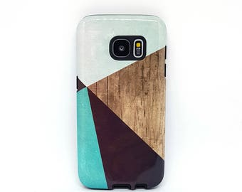 For galaxy s6 case, for Samsung galaxy s5 case, for galaxy s7 case, for samsung s3 case, for samsung case, for galaxy case - Wood Geometric