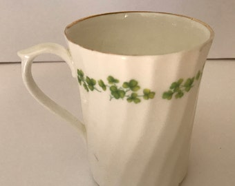 Vintage Royal Stuart coffee or tea cup is in the Shamrock pattern - Fine bone china- Nice condition
