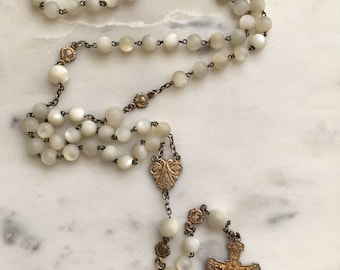 Antique French Rosary - Victorian - Mother of Pearl