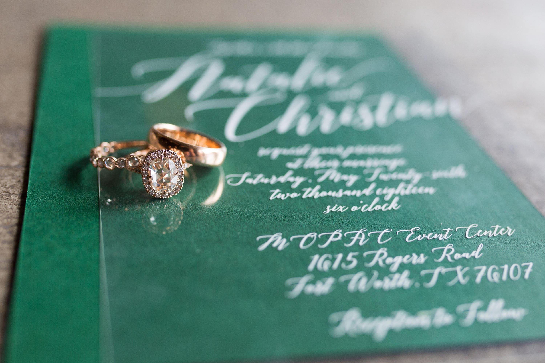 White Ink Calligraphy Wedding Invitation on Like Acrylic Crystal ...