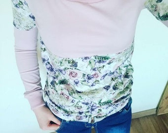 Rose Pattern Beautiful Sweatshirt Crew Neck