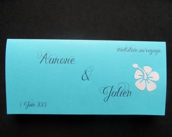 """share marriage """"Islands"""" turquoise and white iridescent"""